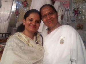 BK Pushap Didi with Seema Behan Barnala