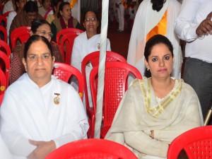 BK Brij Didi with Seema Behan (Lect. B.ed College)