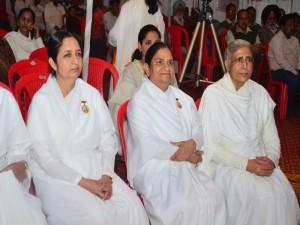 BK Brij Didi with BK Sudarshan Didi & Dr. BK Seema Behan