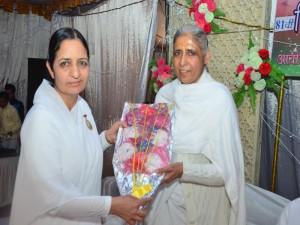 BK Dr (Sr Prof) Seema Behan with BK Sudarshan didi