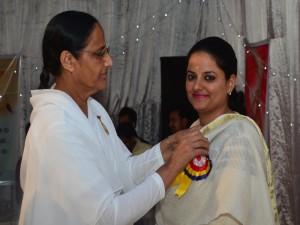 Batch to BK Seema behan with BK Pushap Behan ji