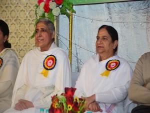 BK Brij Didi with BK Seema Behan