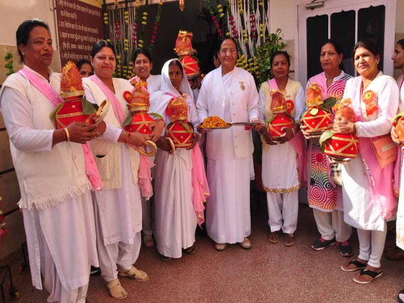 BK Pushap Didi with BK Barnala Sisters