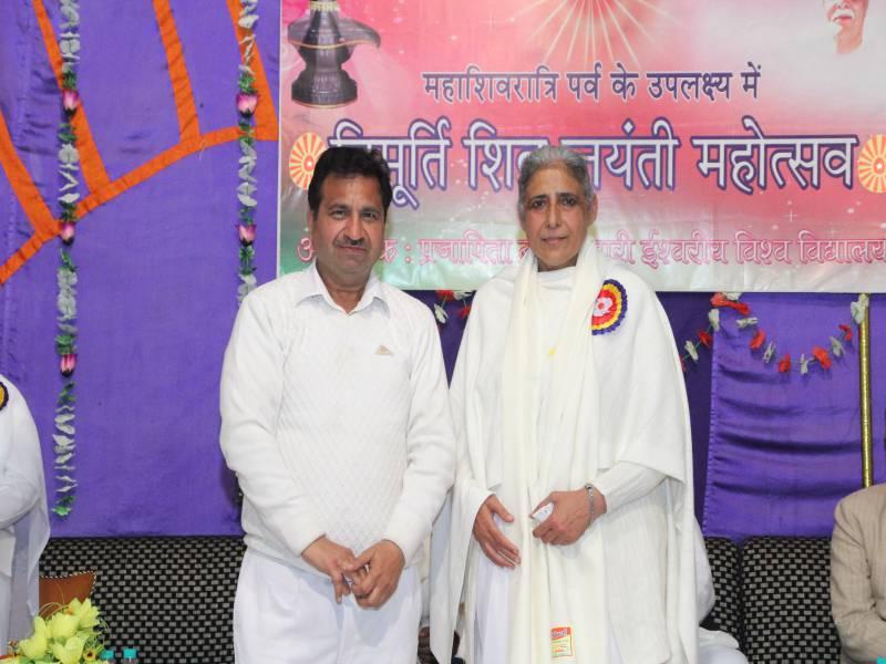 BK Dr Seema Behan Ji with BK Dr Subhash