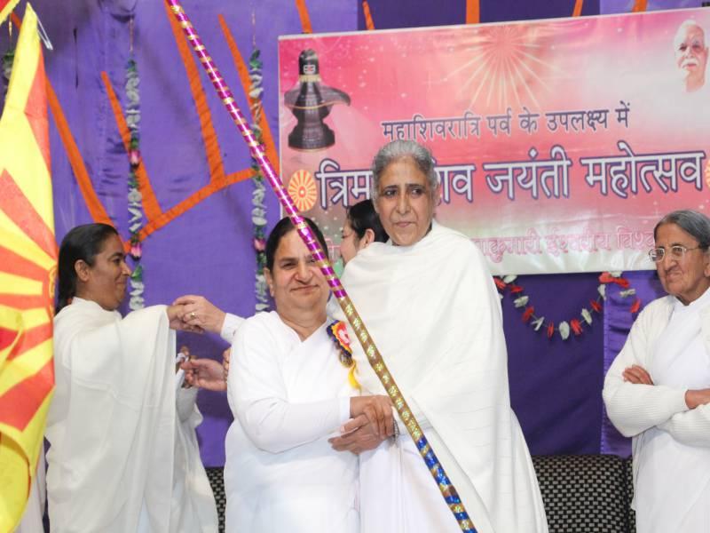 BK Dr Seema Behan Ji with BK Brij Didi